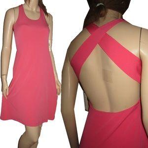 New CALVIN KLEIN Swishy Dress in Salmon Sz 4 Sexy